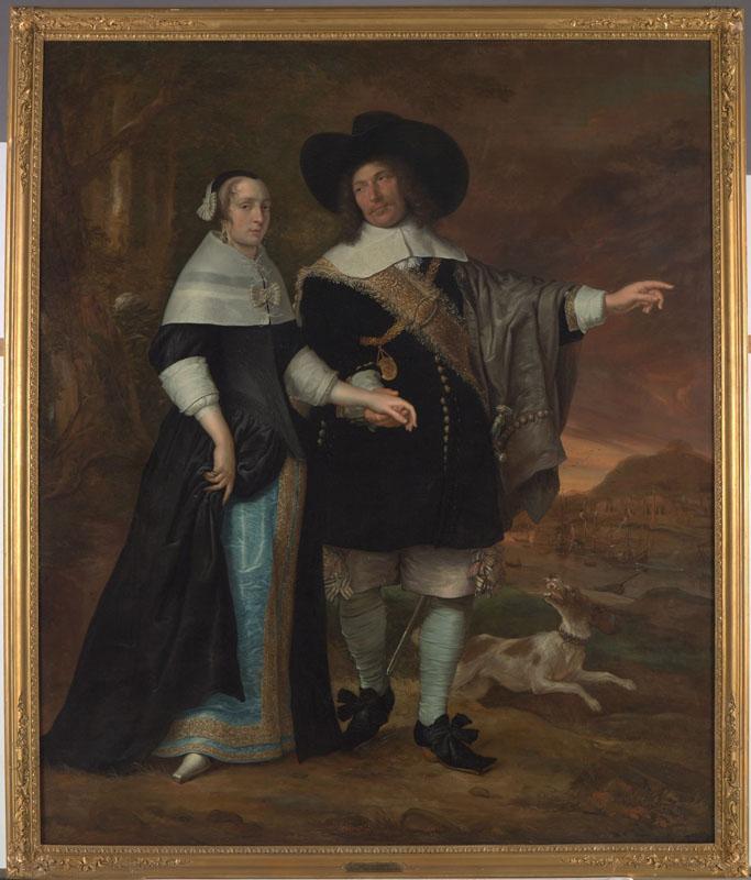 Portret van Willem van der Zaan en zijn echtgenote Agatha (Aechje) ven der Eijck