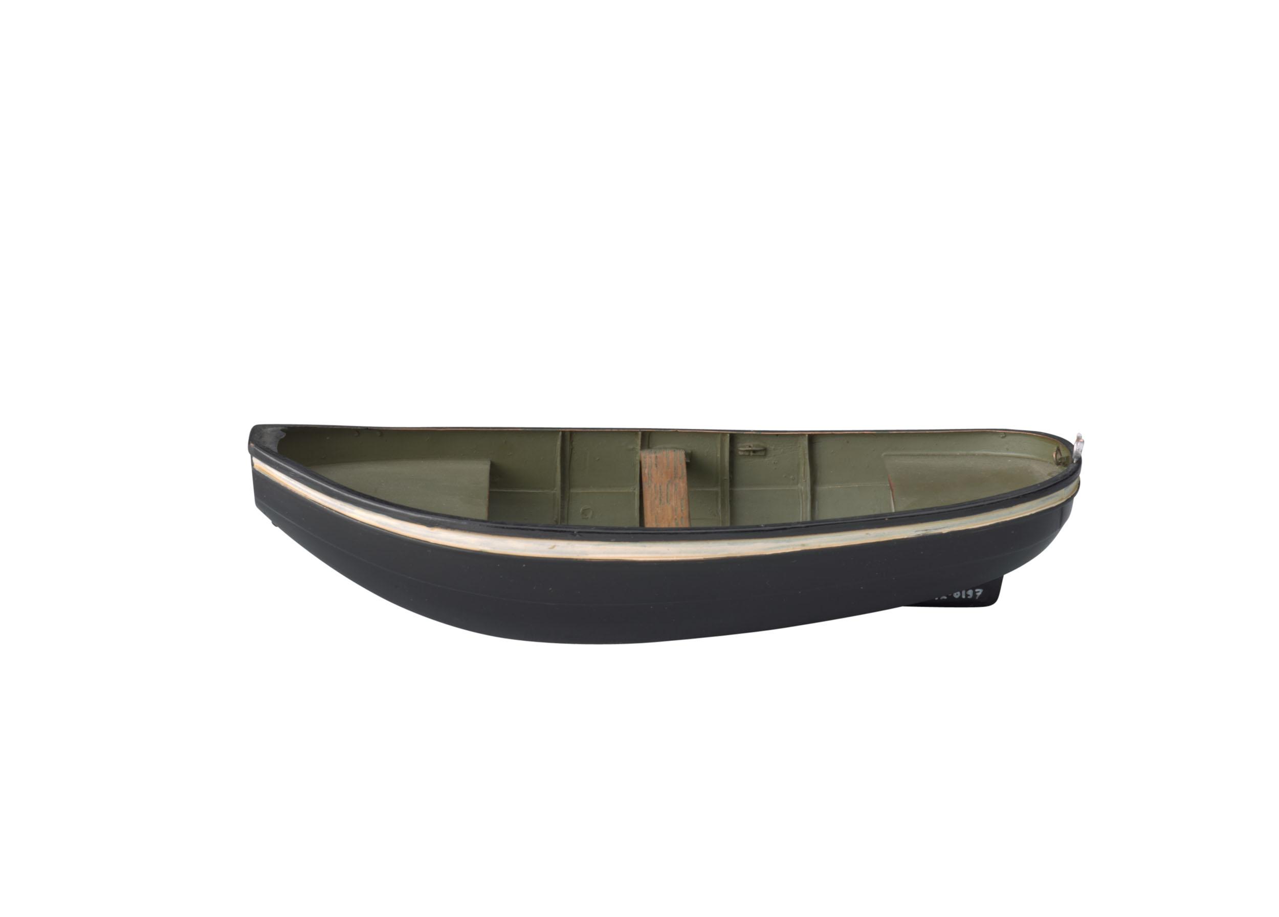 Model van een stalen schippersboot