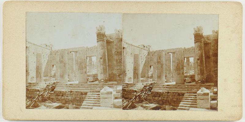 Eén uit een serie van negen stereofoto's gemaakt in en om Athene (Griekenland) door W. Brunings [...]