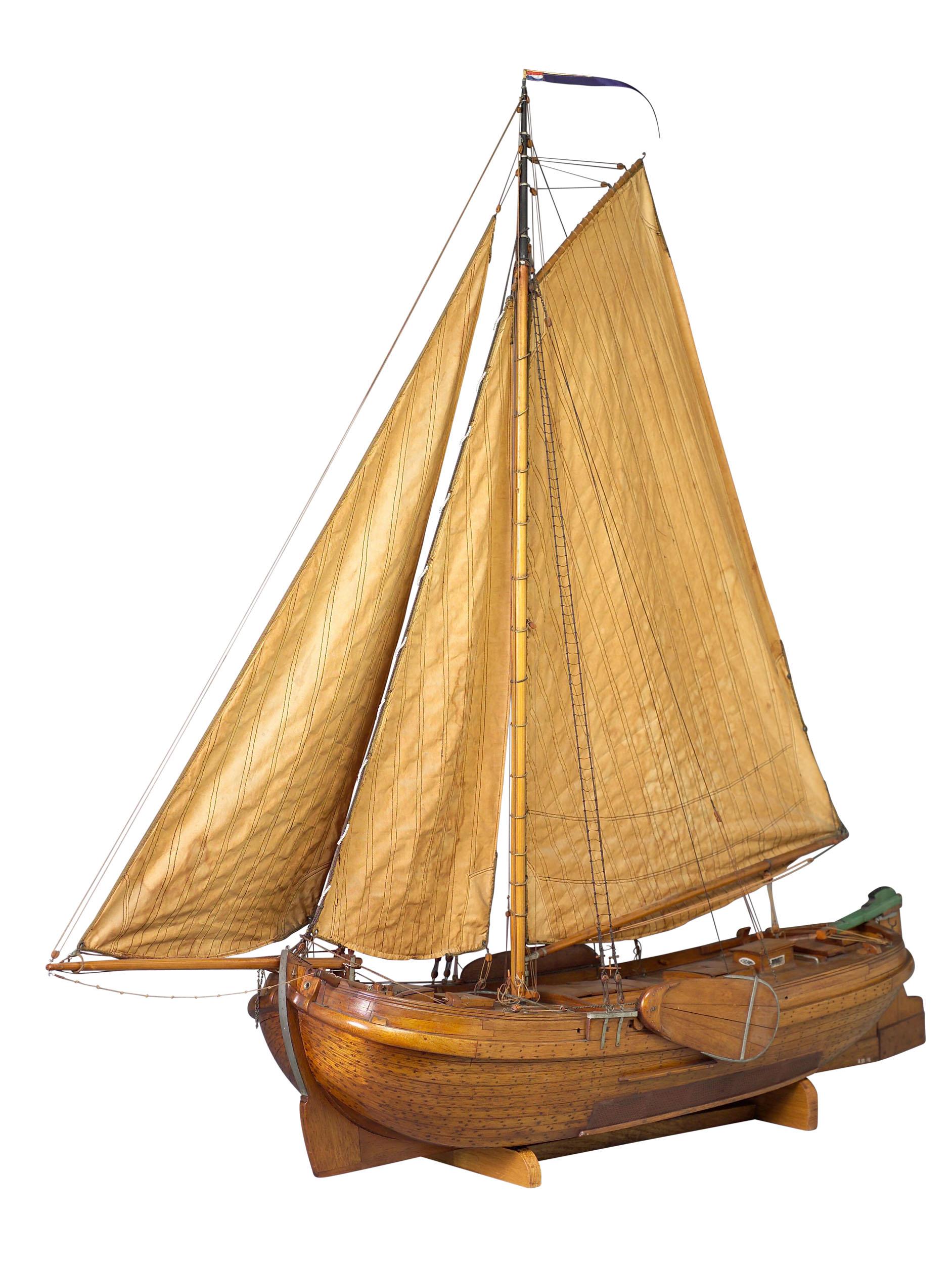 Getuigd model van de Friese palingaak De Vrouw Dieuwke