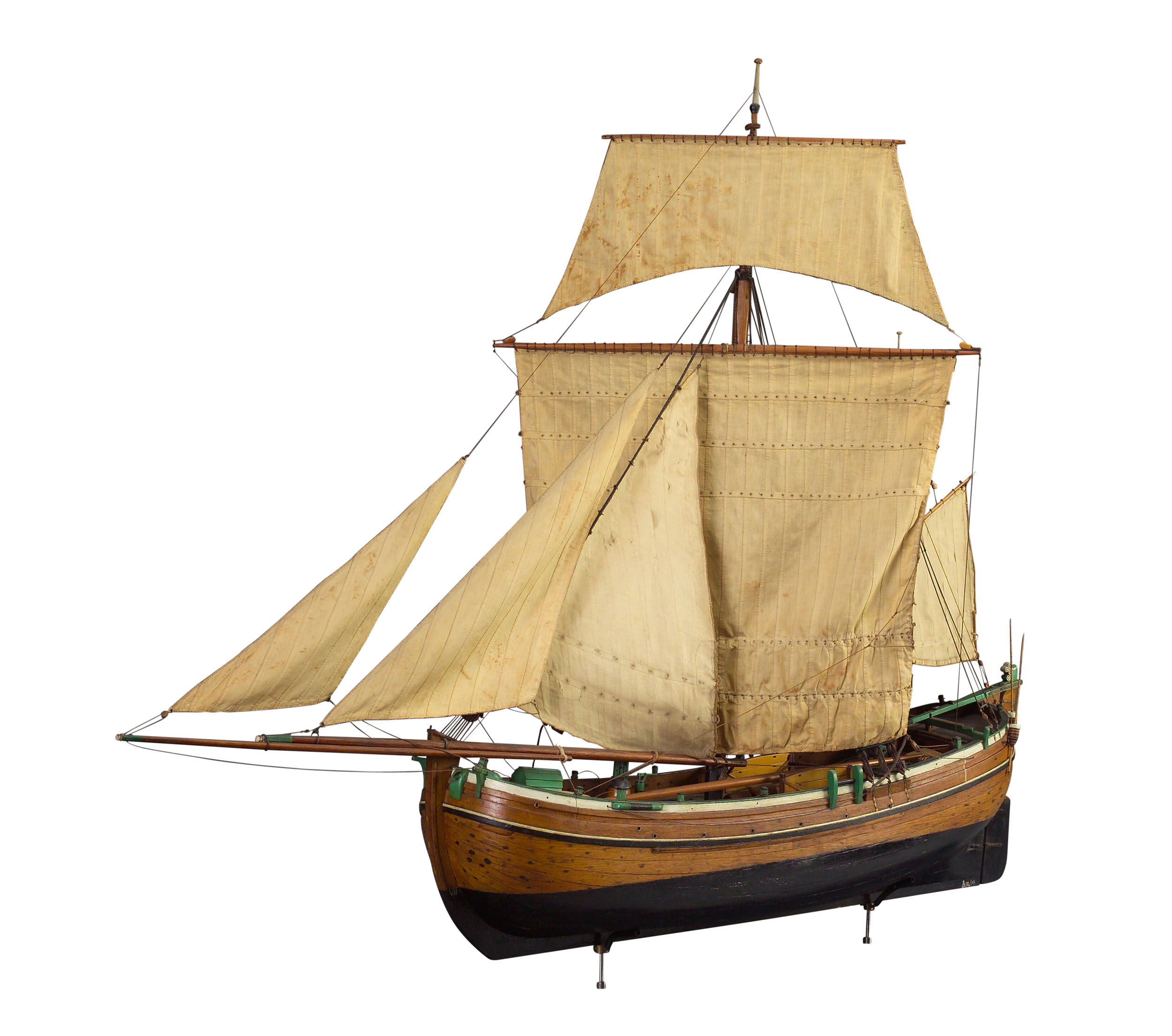 Getuigd model van de vishoeker Hendrik Pieter