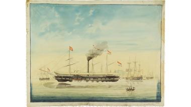 Het raderstoomschip Willem de Eerste