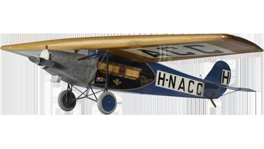Model van een Fokker VII, H-N ACC, passagiersvrachtvliegtuig