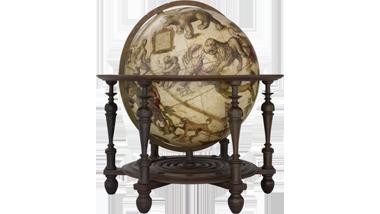 Hemelglobe van 53,5 cm. in doorsnede door Jodocus Hondius...