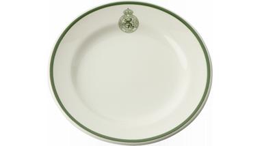 Compotebord van aardewerk met het logo van de Koninklijke...