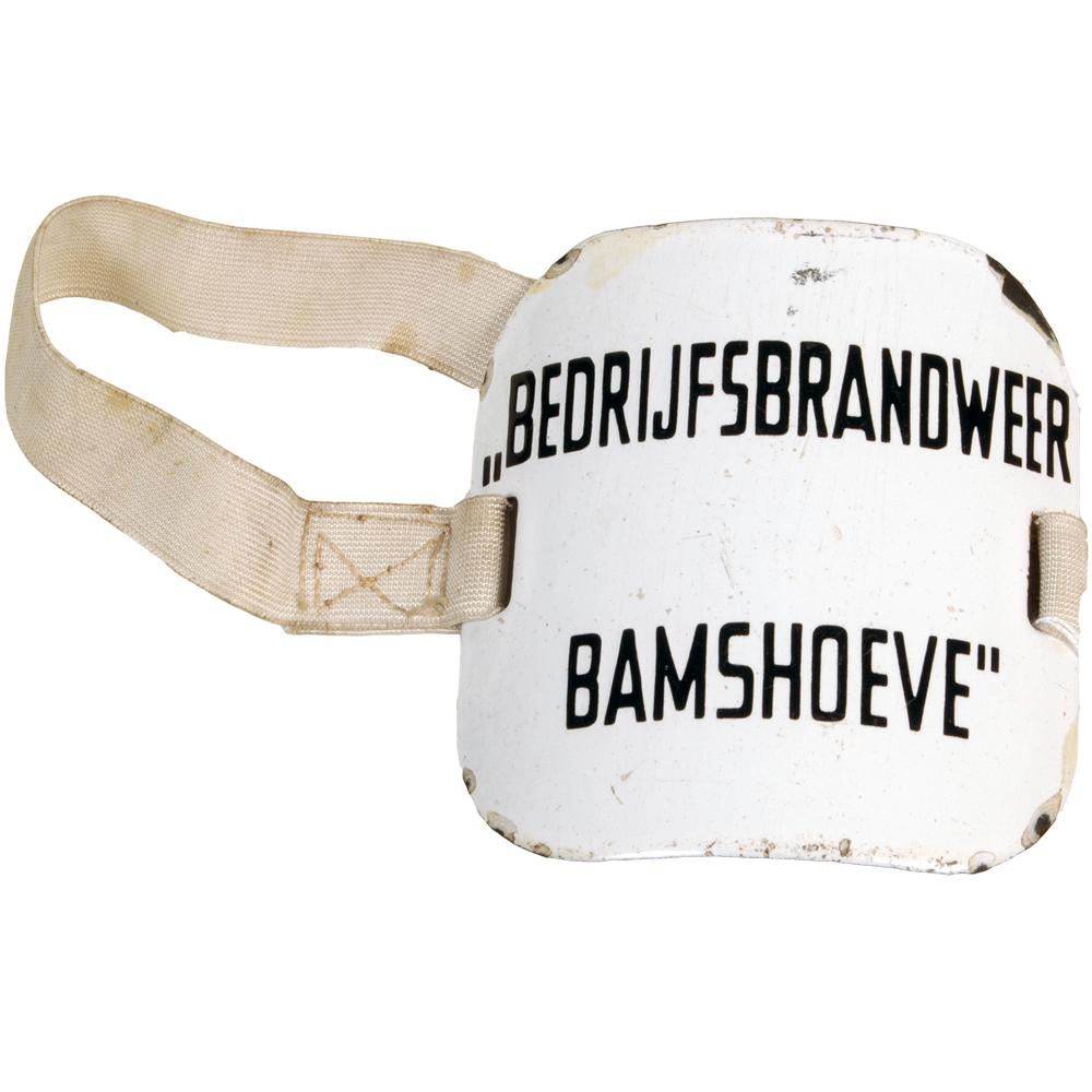 """Draagband: """"Bedrijfsbrandweer Bamshoeve"""""""