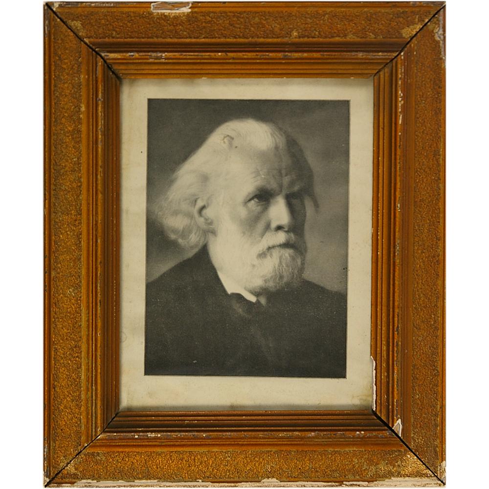 """Foto (reproductie) in lijst: Portret """"Domela Nieuwenhuis"""""""