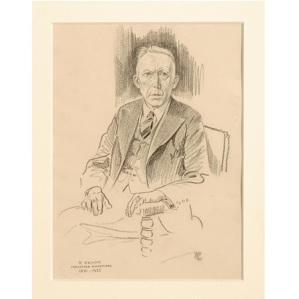 "Tekening: Portret ""H. Kroon"""