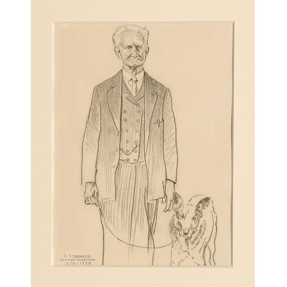"""Tekening: Portret """"G. Steenblik"""""""