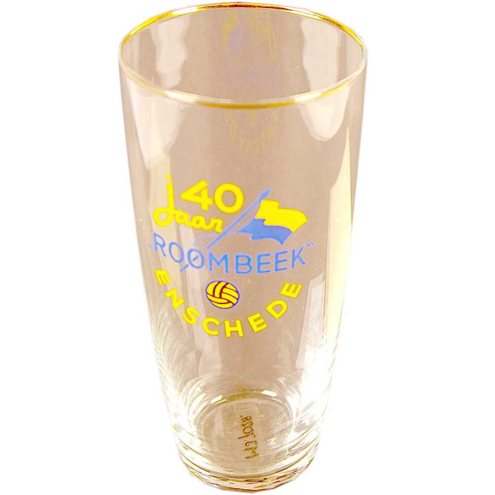"""Jubileum glas: """"40 jaar Roombeek"""""""