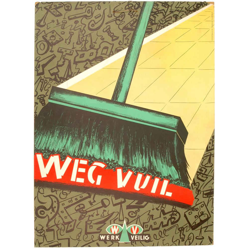 """Affiche: """"Weg vuil"""""""