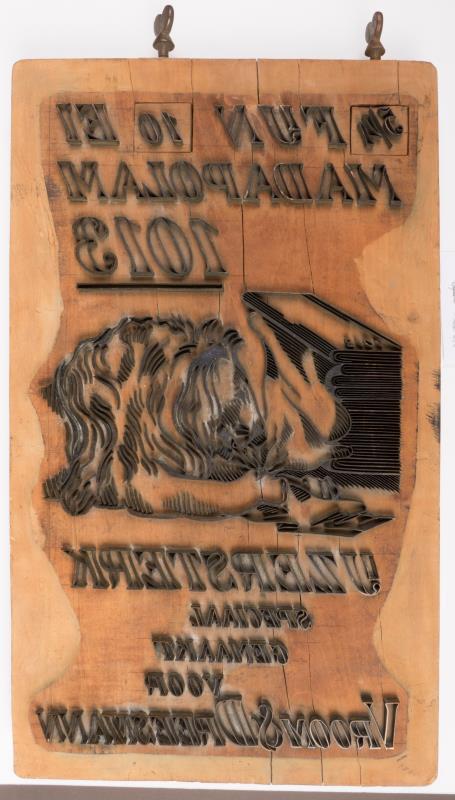 "Exportstempel: ""10 EL Madapolam"""