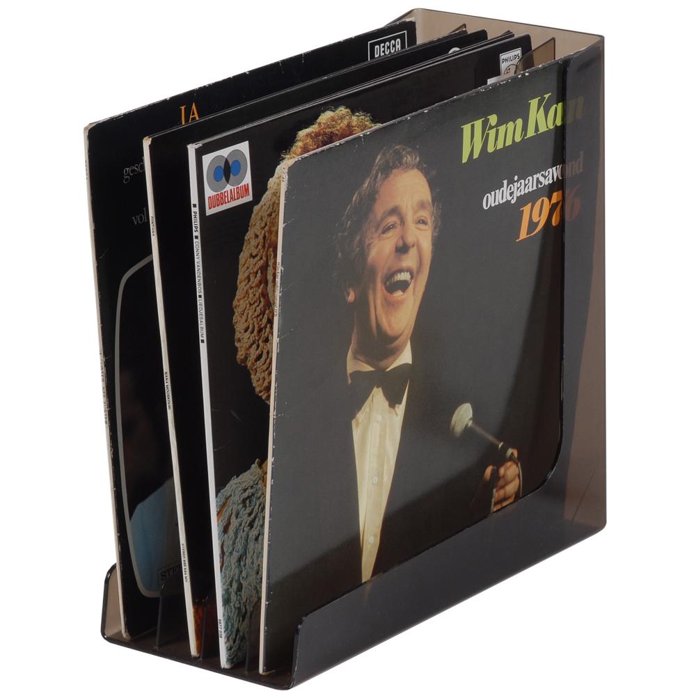 Platenstandaard met 4 LP's
