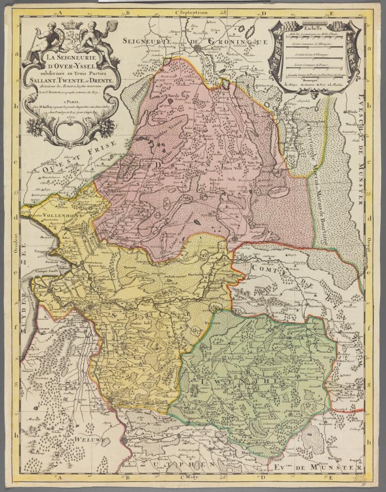 kaart: La Seigneurie d'Over-Yssel