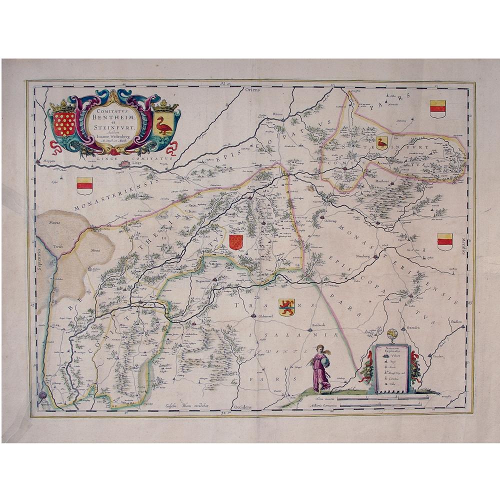 kaart: Comitatus Bentheim et Steinfurt