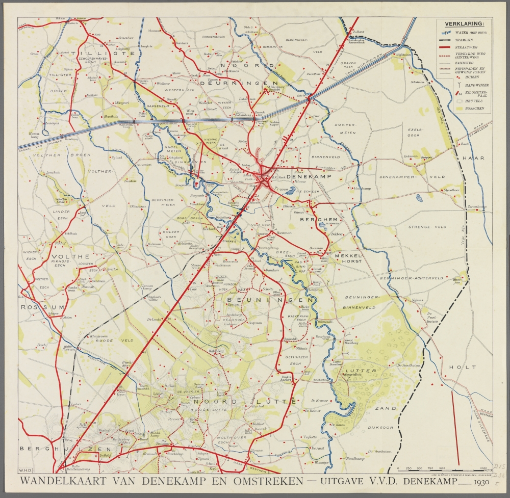 kaart: Wandelkaart van Denekamp en omstreken