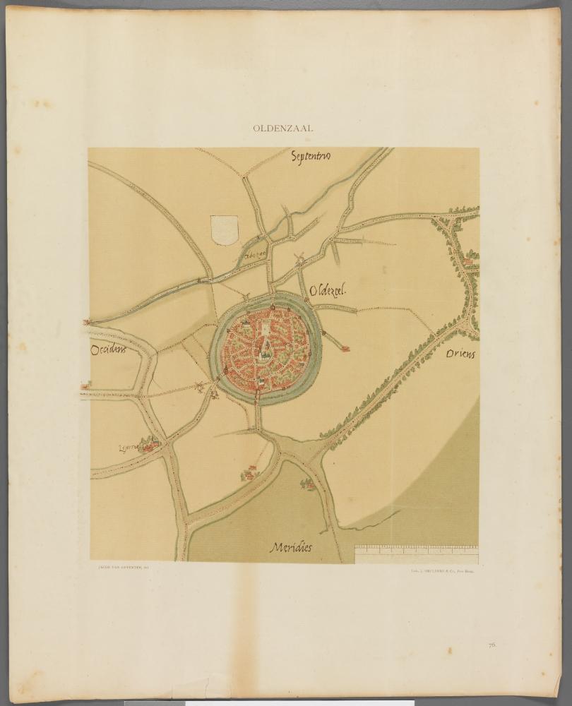kaart: Nederlandsche Steden in de 16e eeuw, Oldenzaal