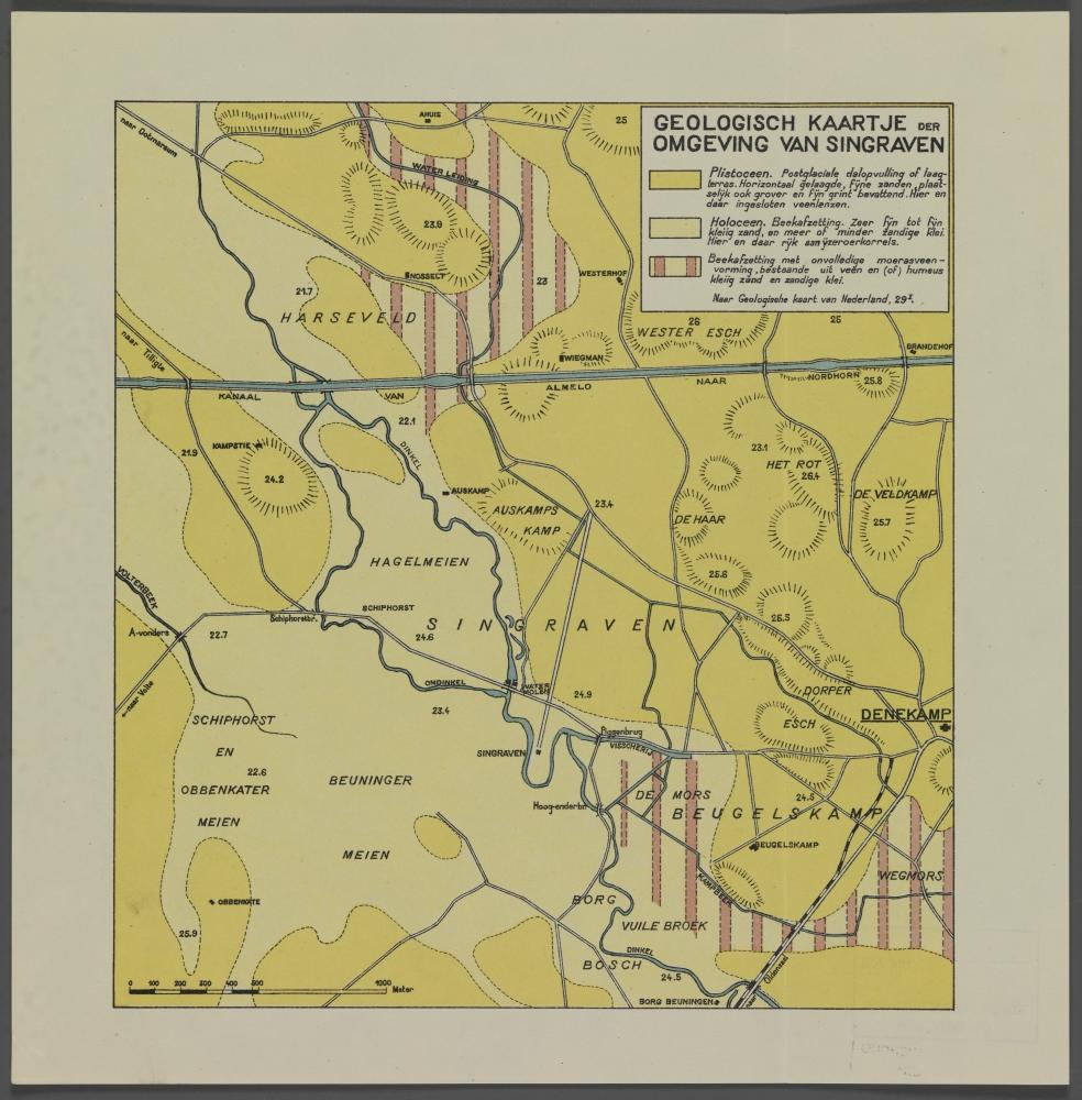 kaart: Geologische kaart der omgeving Singraven
