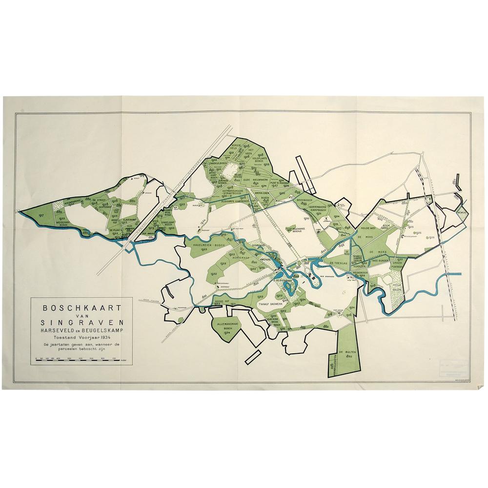 kaart: Boschkaart van Singraven, Harseveld en Beugelskamp