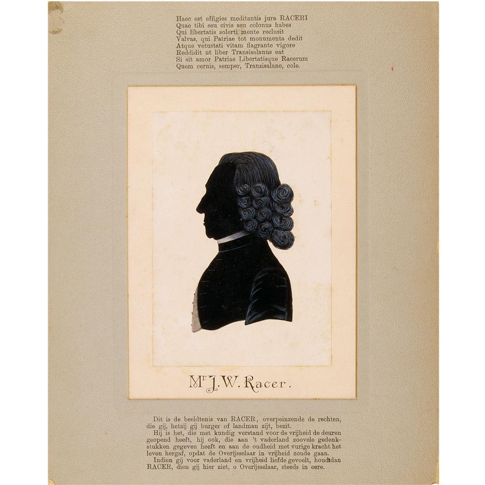 Geschilderd silhouet: Portret van mr. J.W. Racer