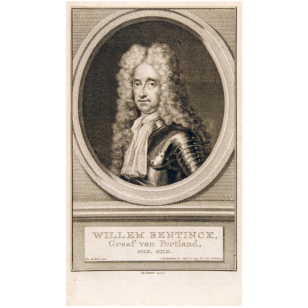 Gravure: Portret van Willem Bentinck, graaf van Portland