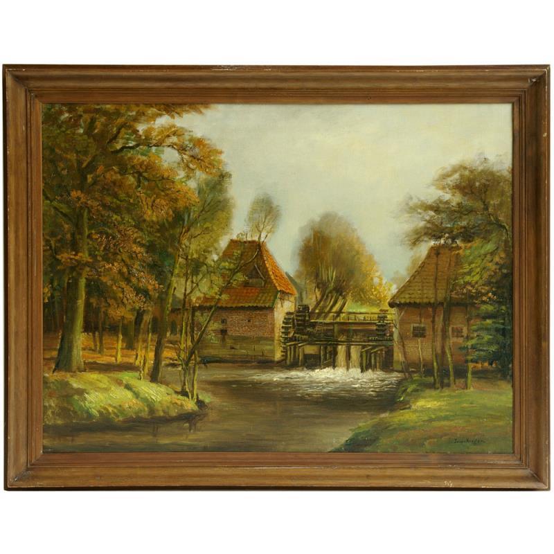 """Schilderij: """"Watermaolen van Haaksbergen"""""""