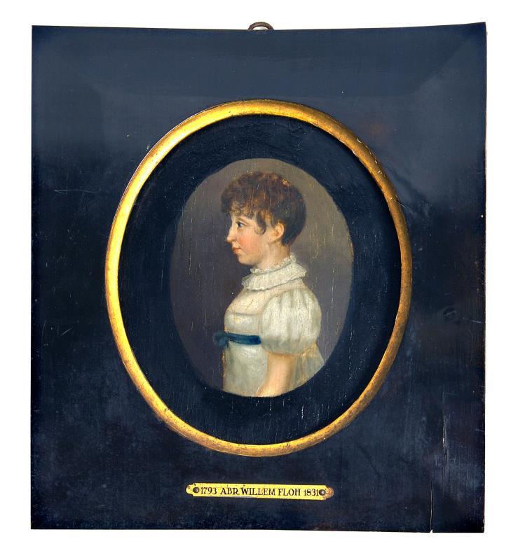 Schilderij: Portret van Johanna Elderink- Blijdenstein (1797-1820)
