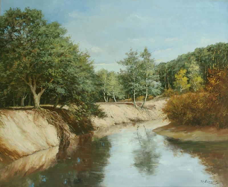 Schilderij: Landschap met bocht van de Dinkel