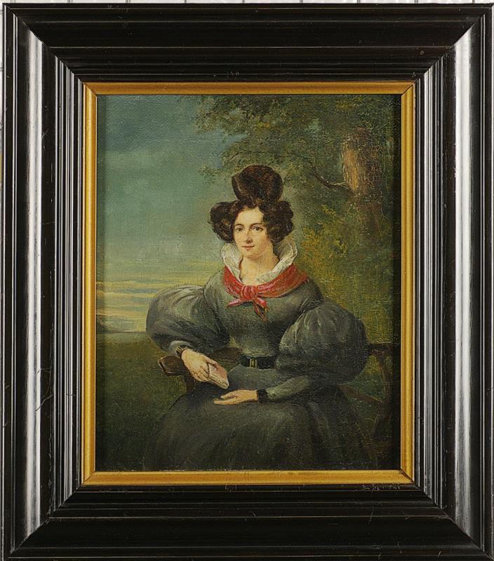 Schilderij: Portret Gezina Margretha Budde