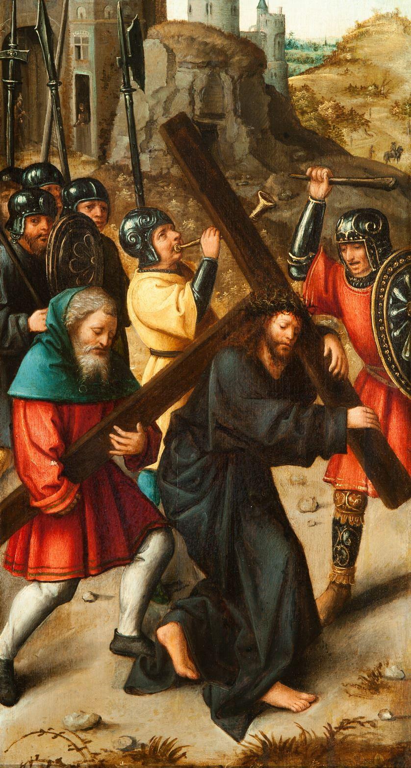 Gang van Christus naar Golgotha