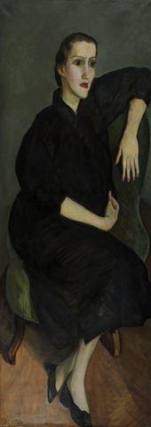 Portret van Irmgard Anderson (de zwangere)
