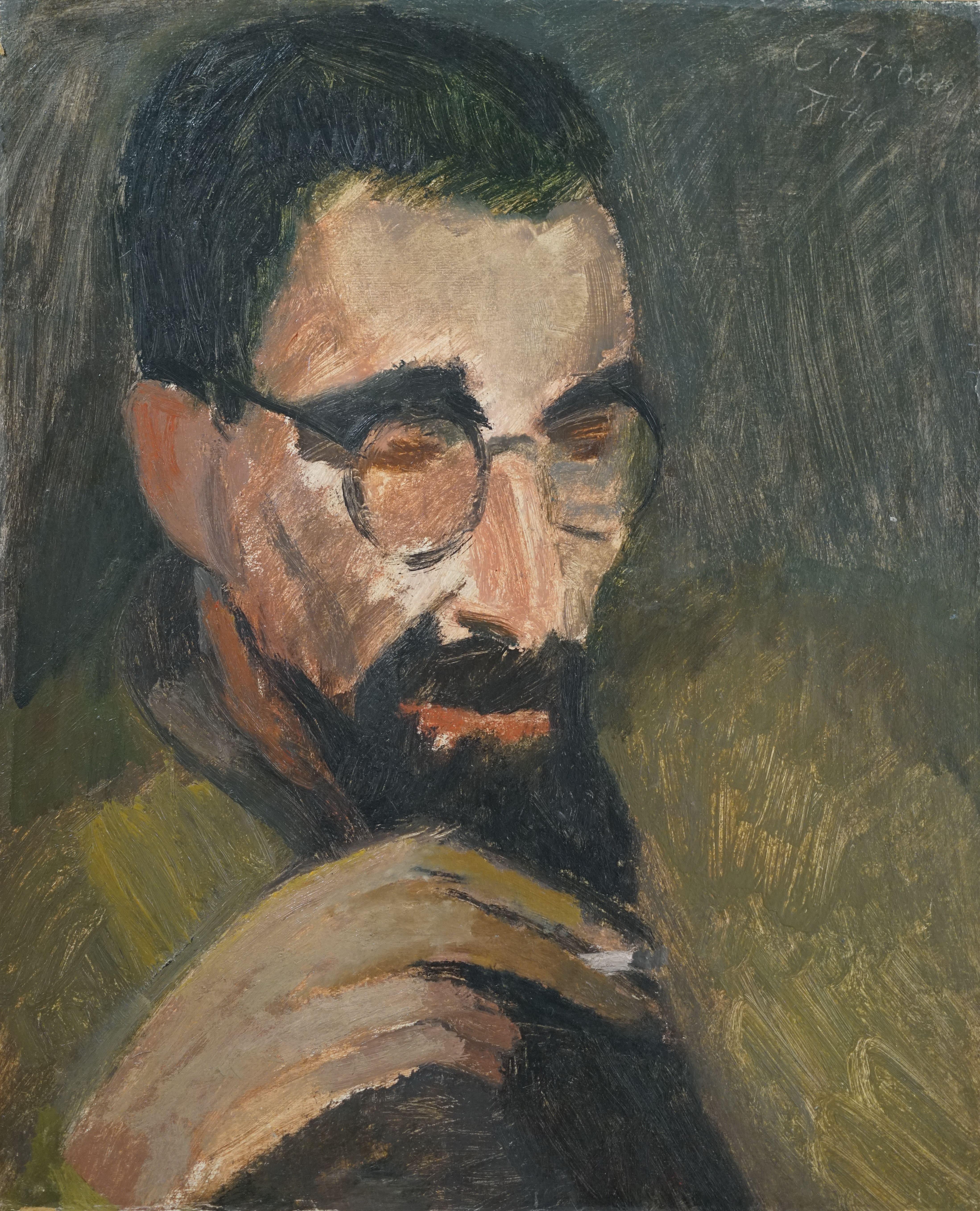Man met bril en baard