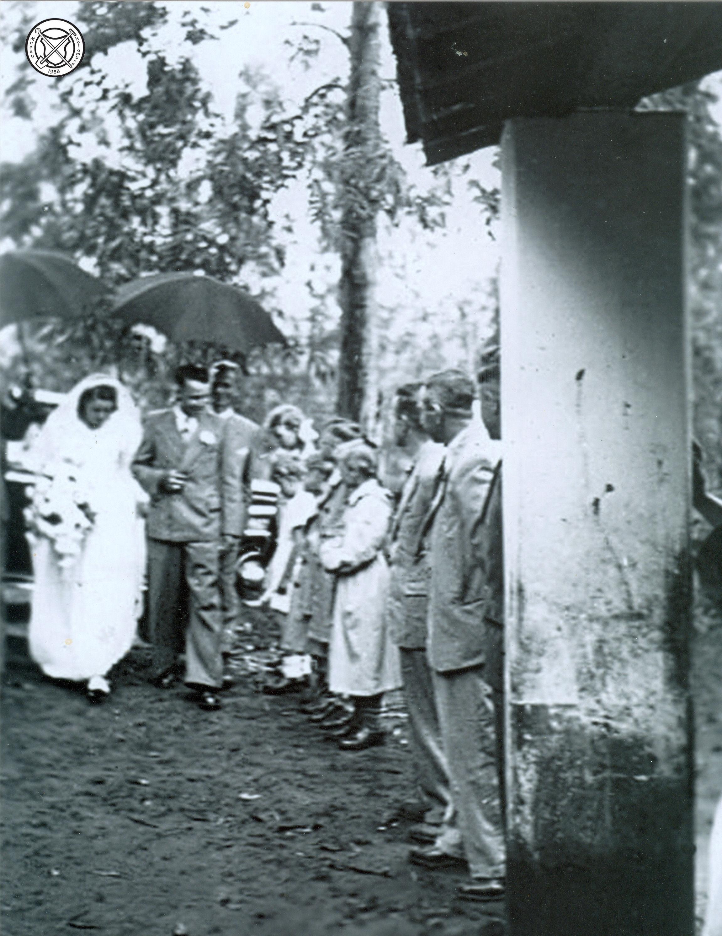 Eerste huwelijk in Holambra van Jan en Nelly Palmen
