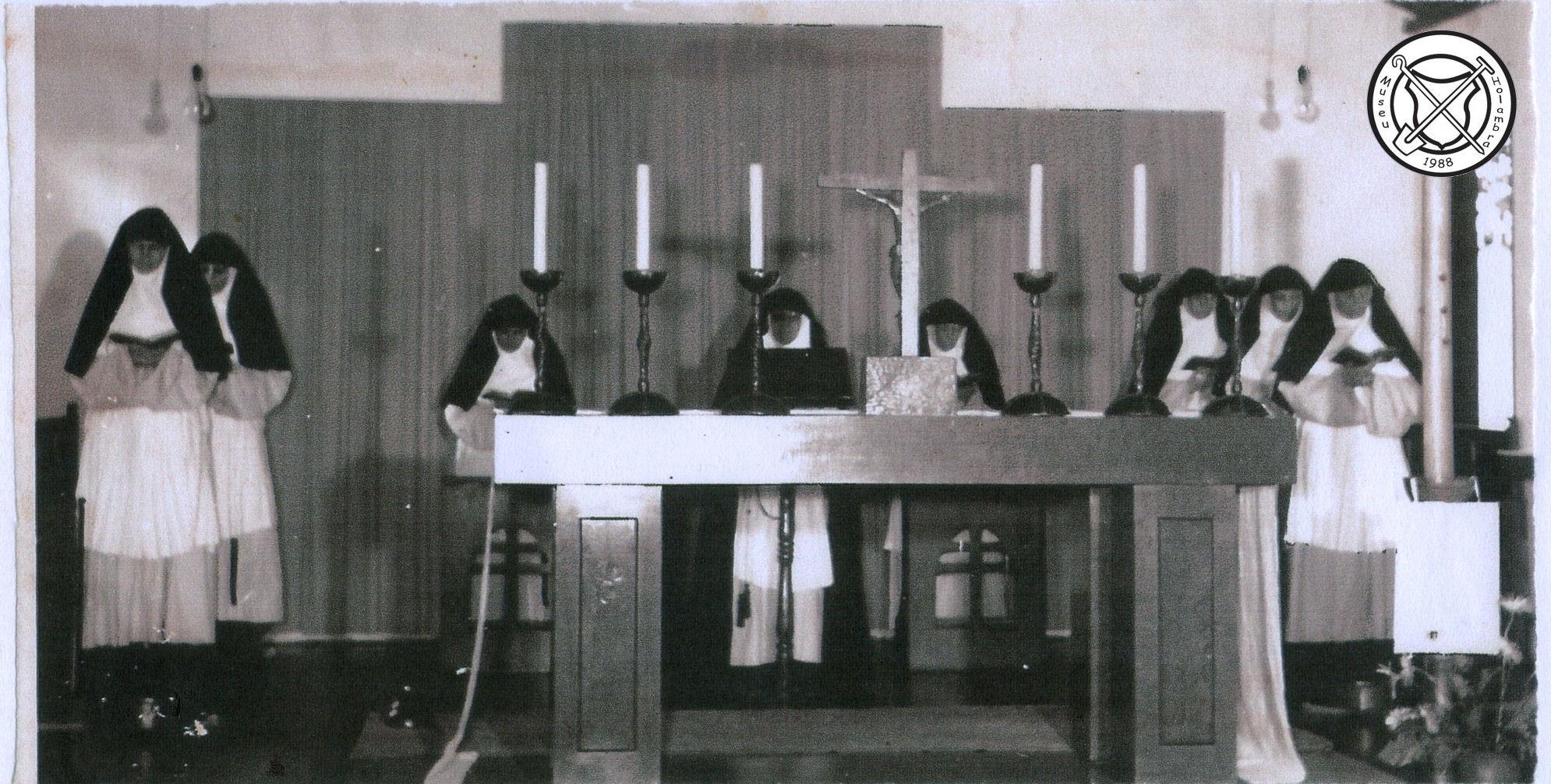 Zusterkoor op de kansel