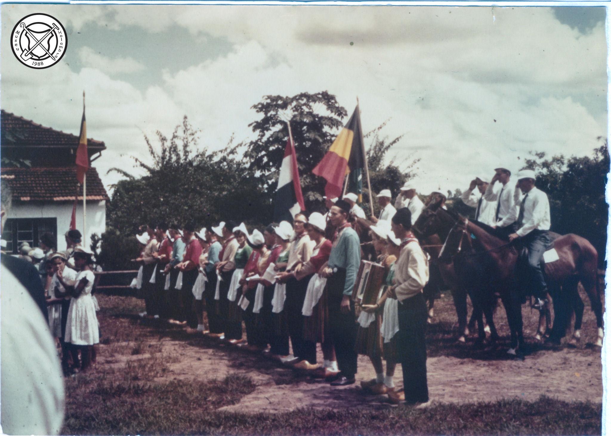 Bezoek van koning Leopold van België aan Holambra