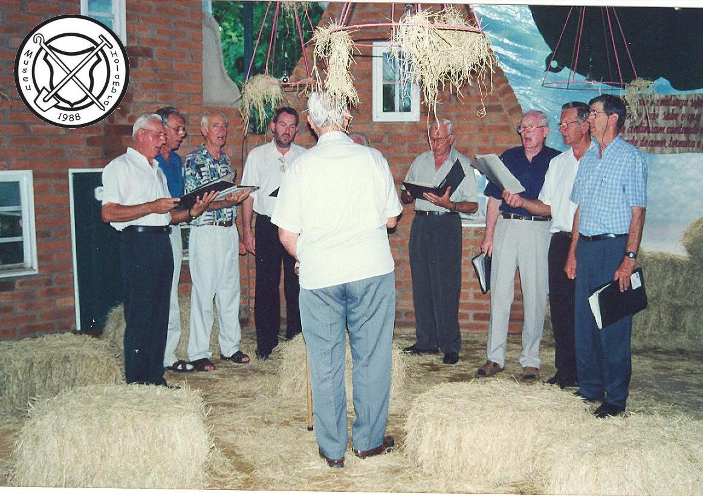 Optreden mannenkoor bij Levende Kerststal (Presépio Vivo)
