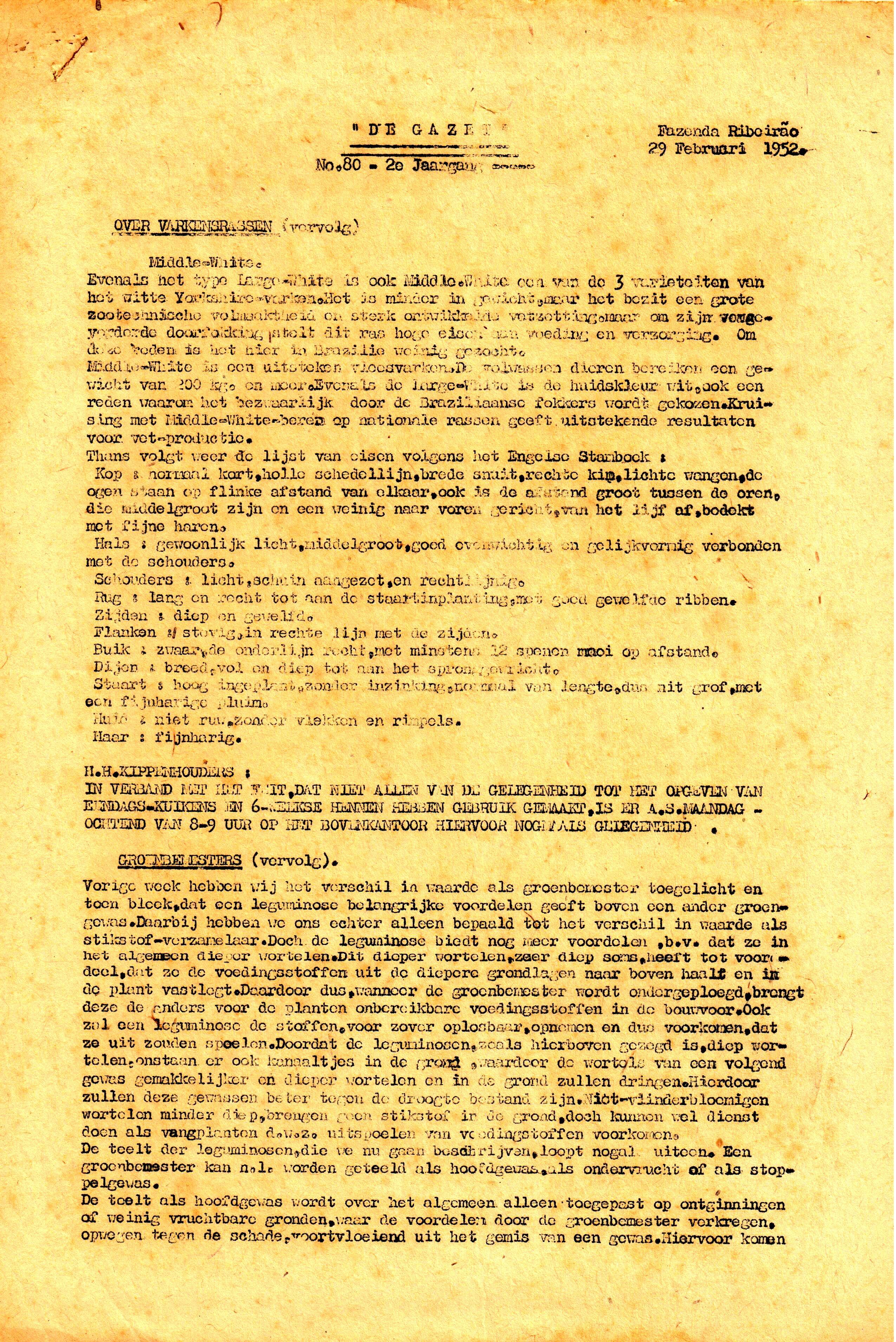 DE GAZET N°80 - 2e JRG