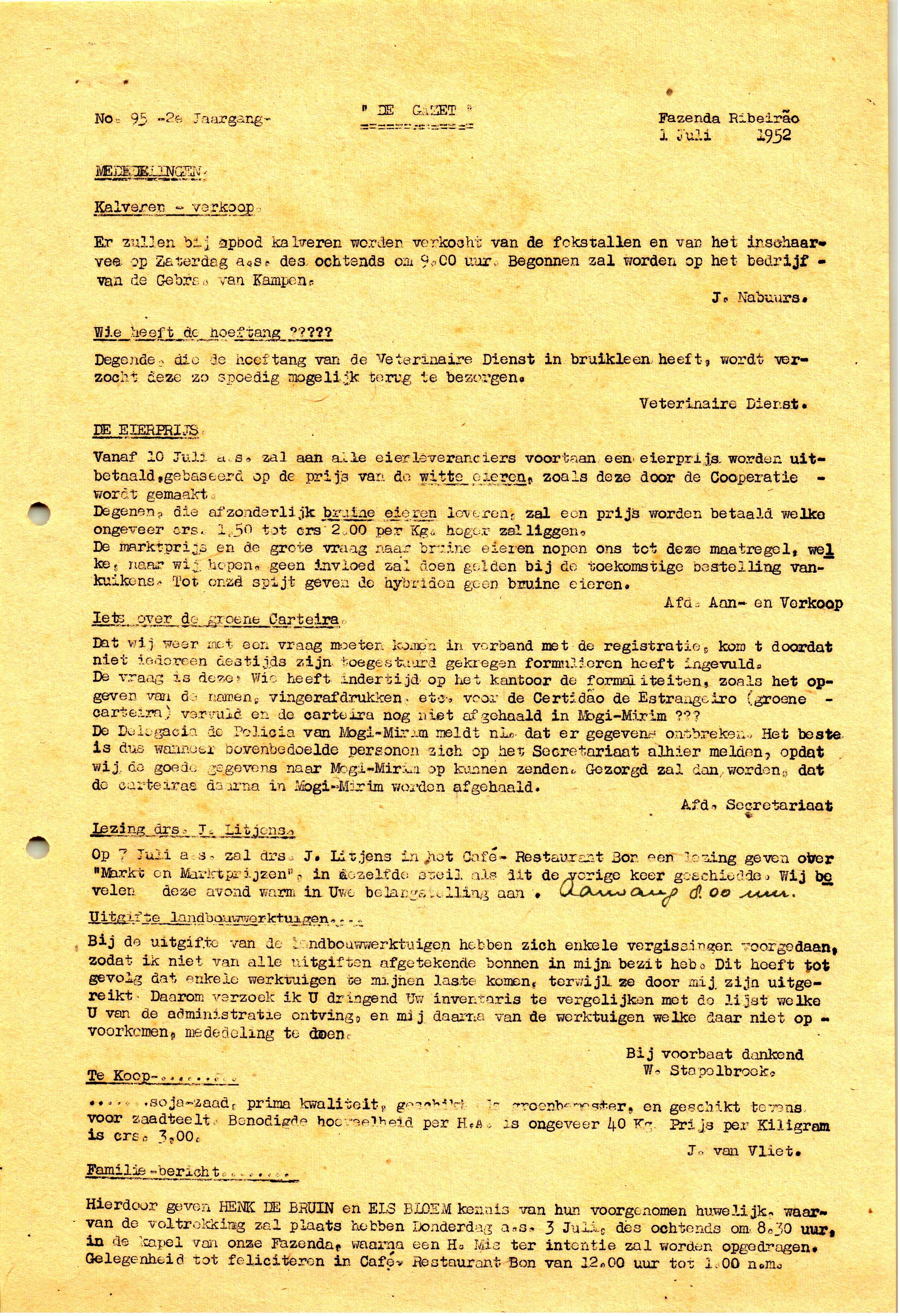 DE GAZET N°95 - 2e JRG