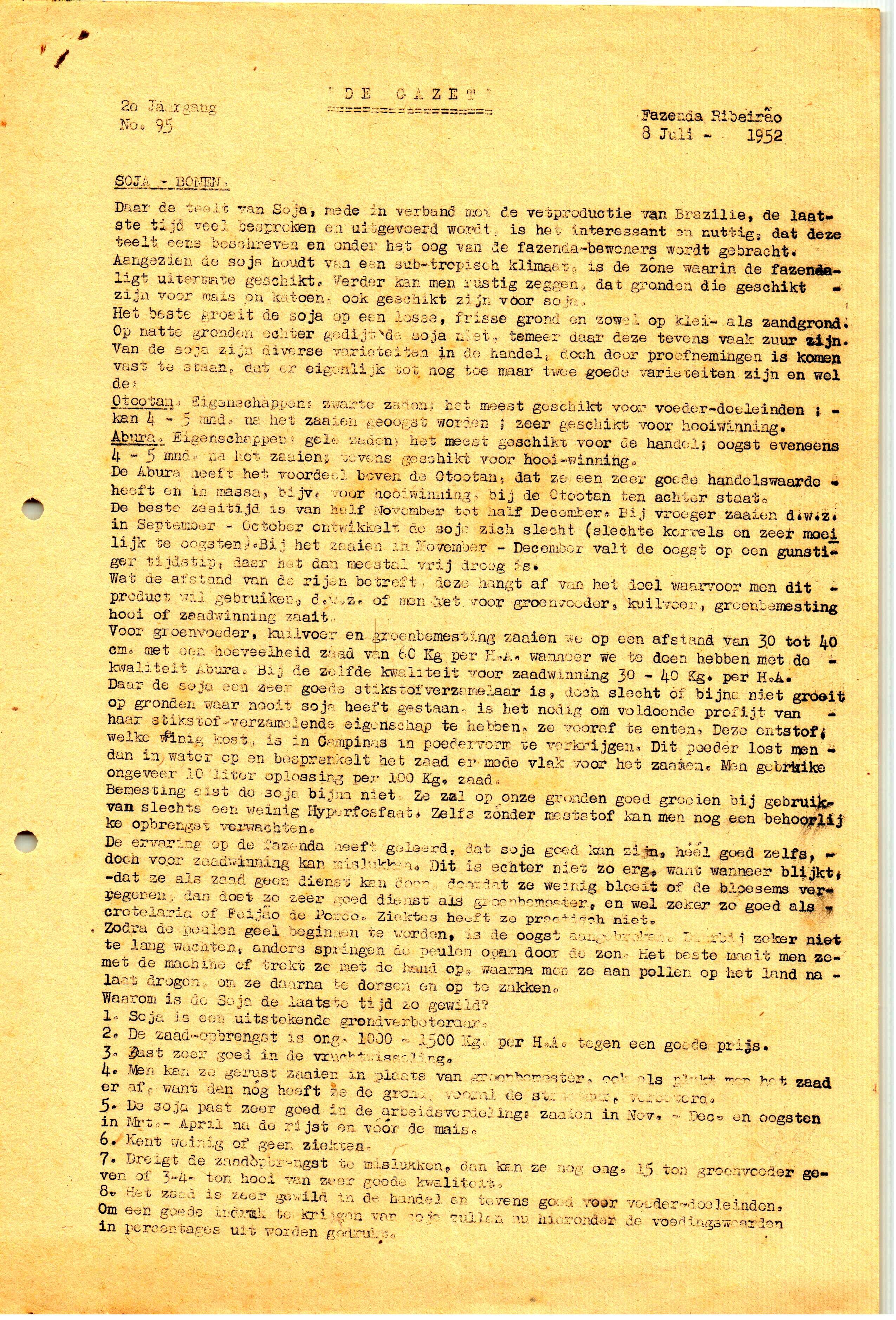 DE GAZET N°95 - 2° ANO