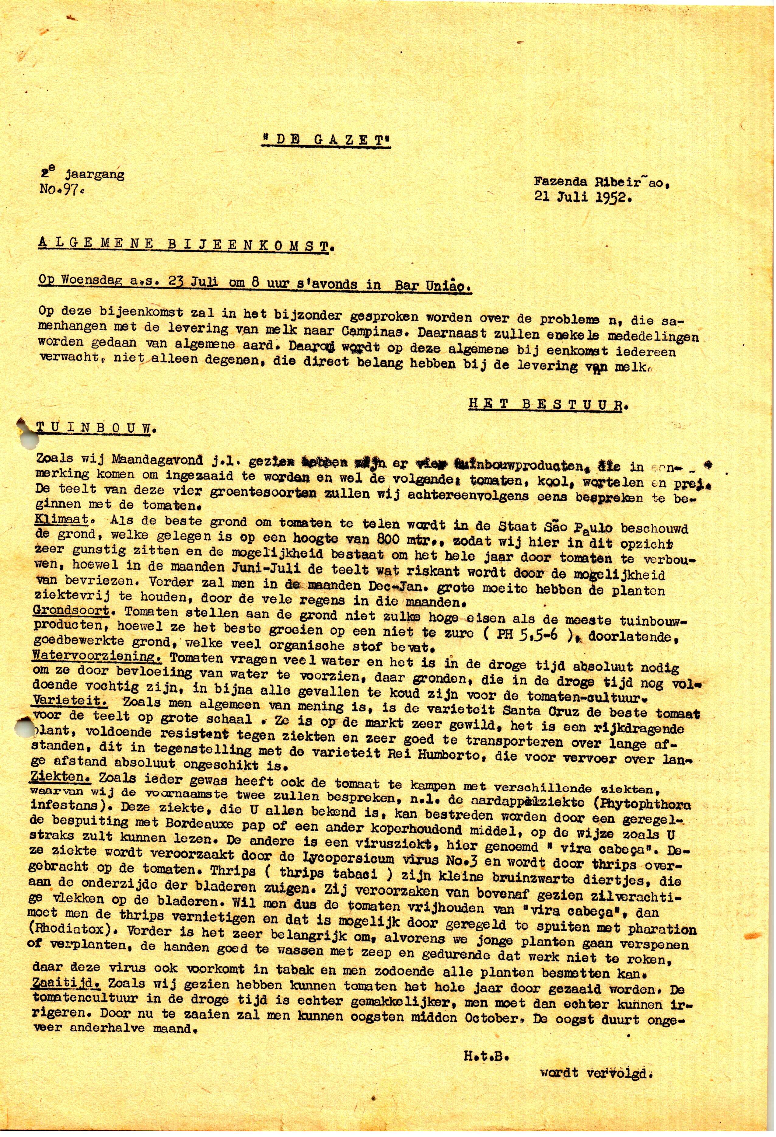 DE GAZET N°97 - 2e JRG