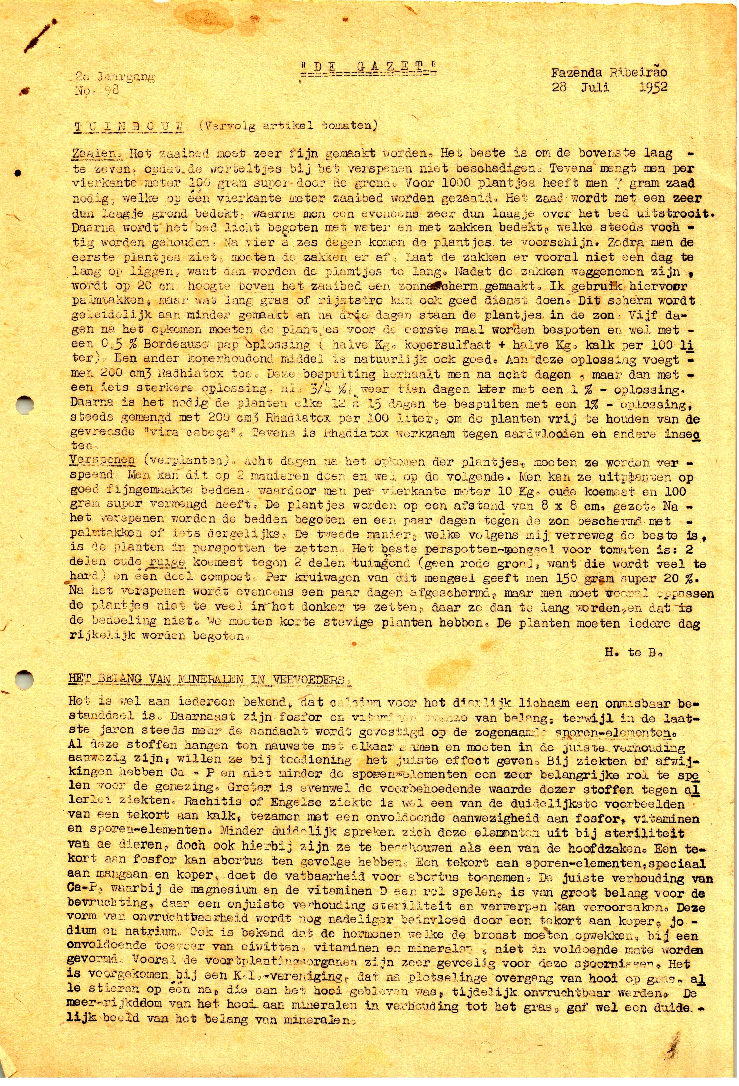 DE GAZET N°98 - 2° ANO