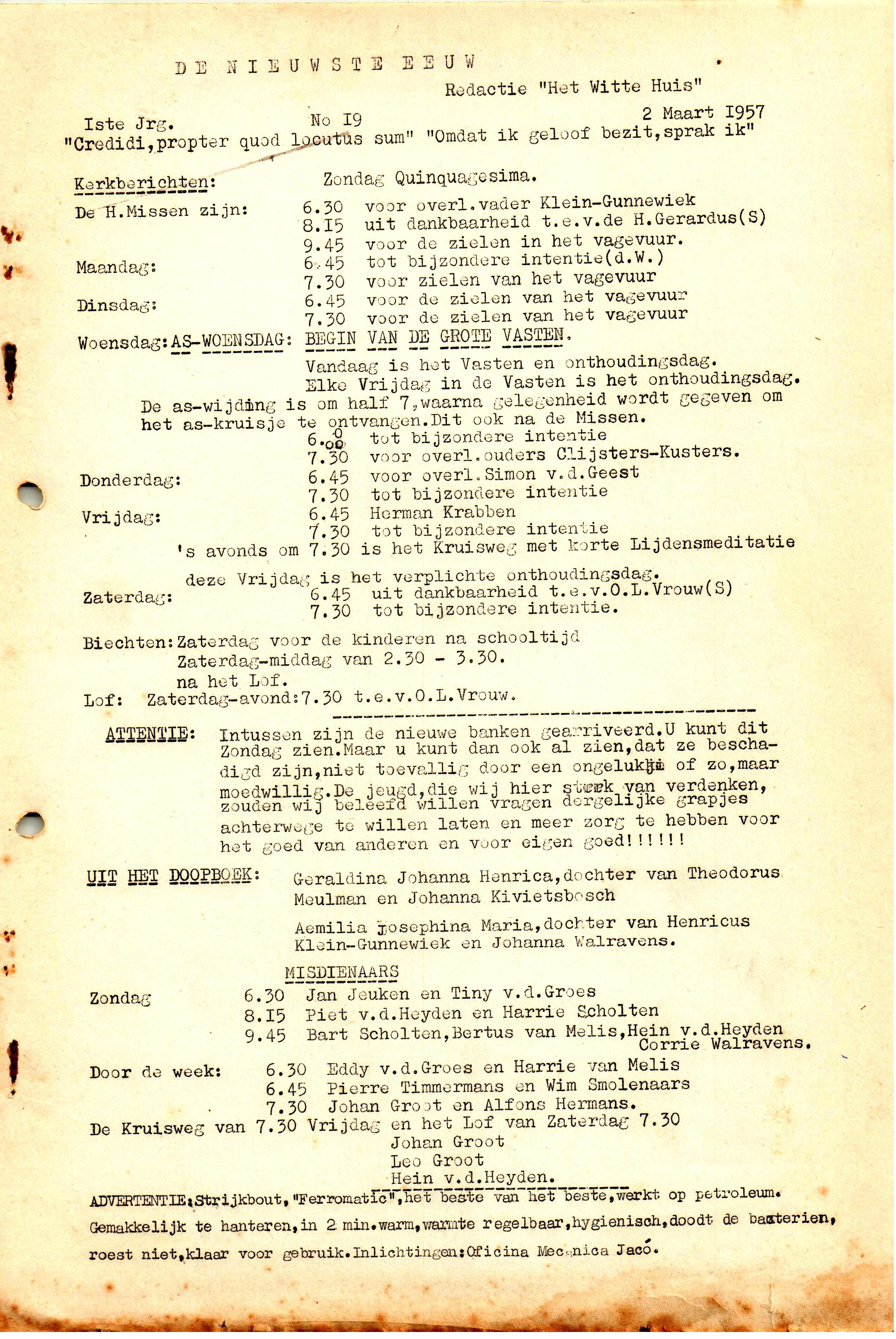 DE NIEUWSTE EEUW N°19 - 1e JRG