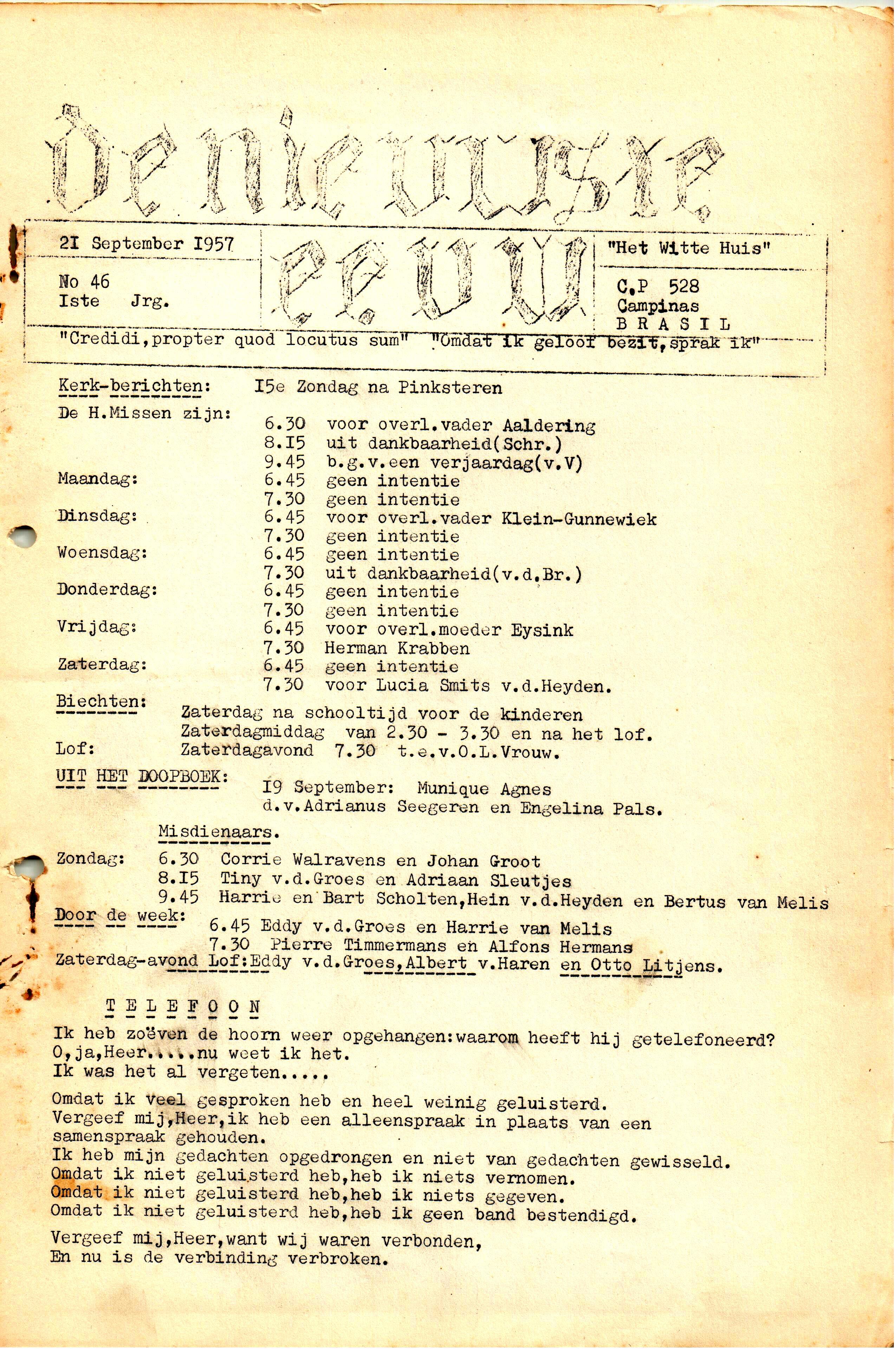 DE NIEUWSTE EEUW N°46 - 1e JRG