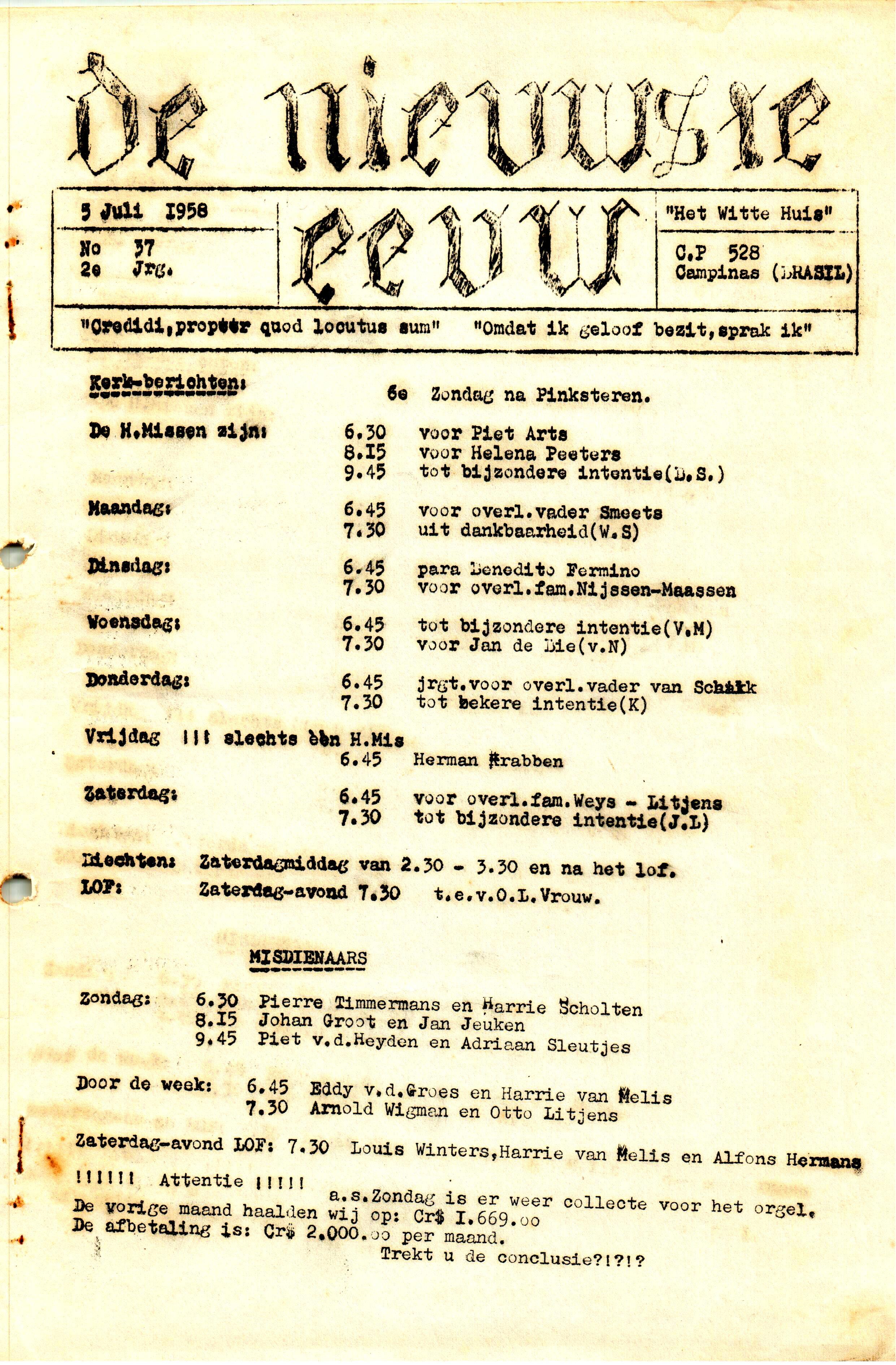 DE NIEUWSTE EEUW N° 37 - 2e JRG