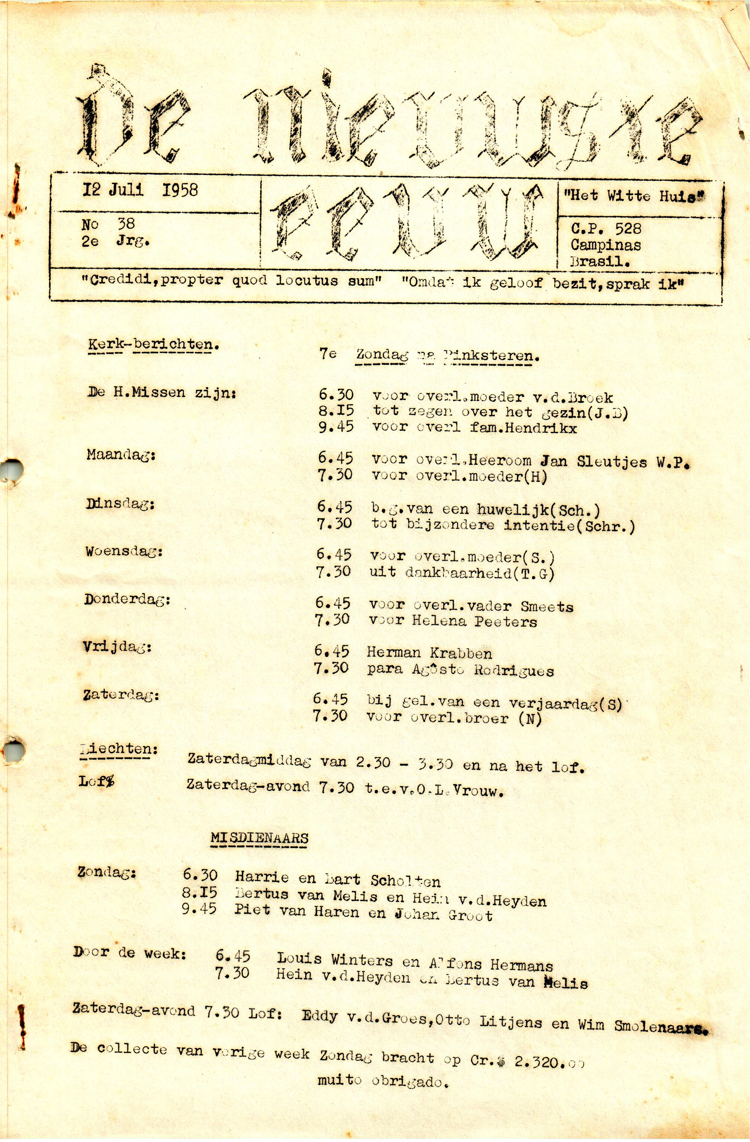 DE NIEUWSTE EEUW N° 38 - 2e JRG