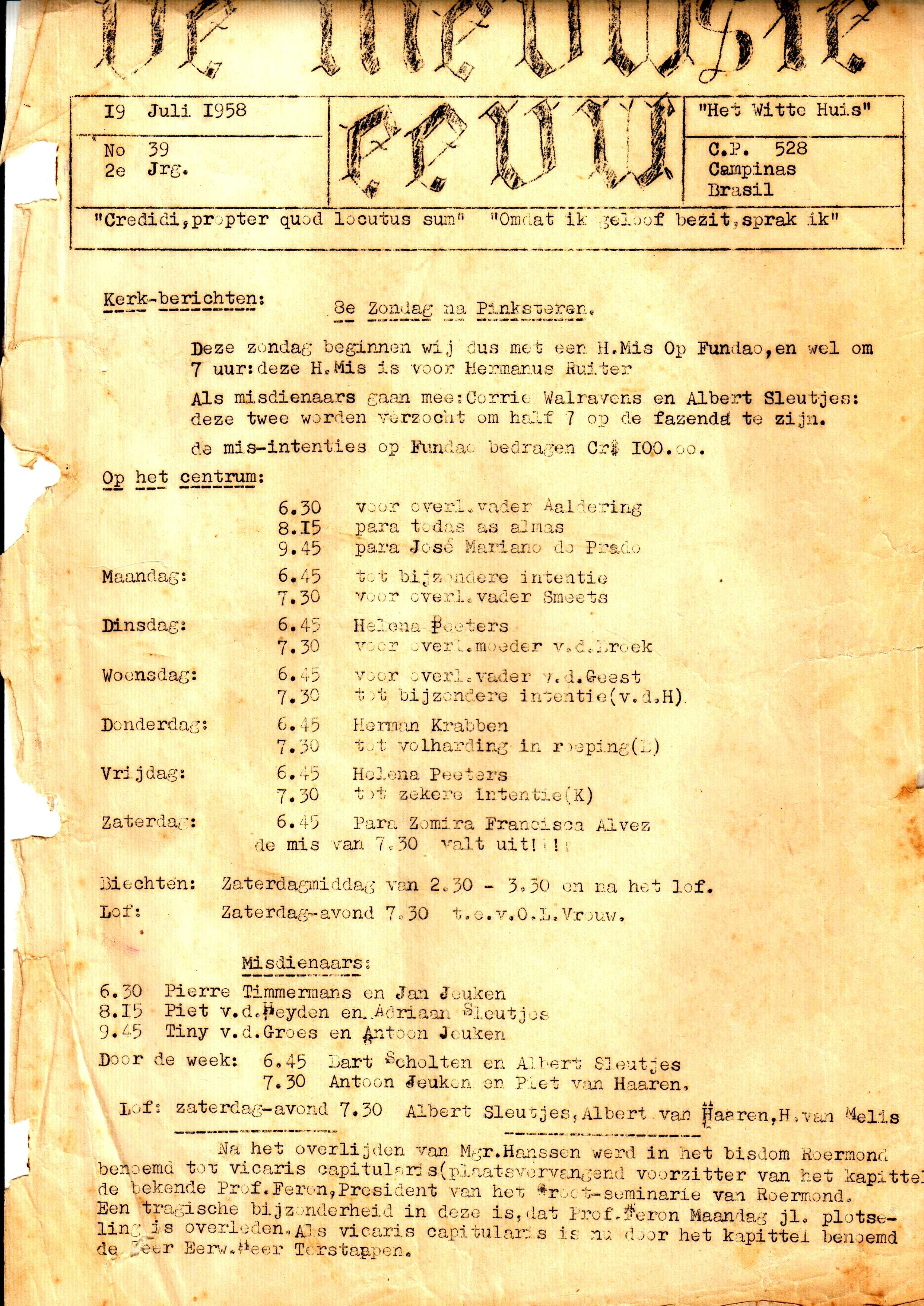 DE NIEUWSTE EEUW N° 39 - 2e JRG