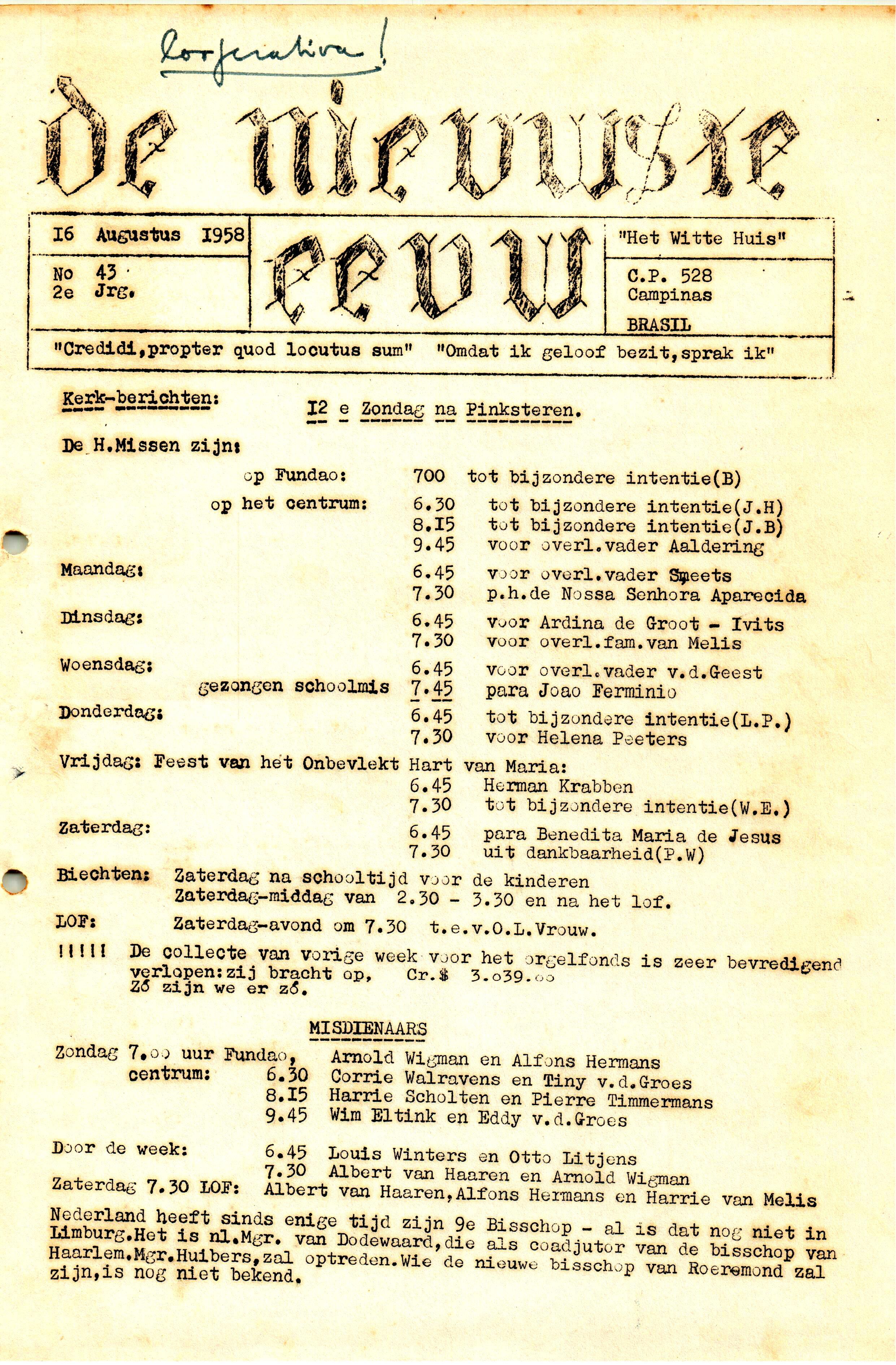 DE NIEUWSTE EEUW N° 43 - 2e JRG