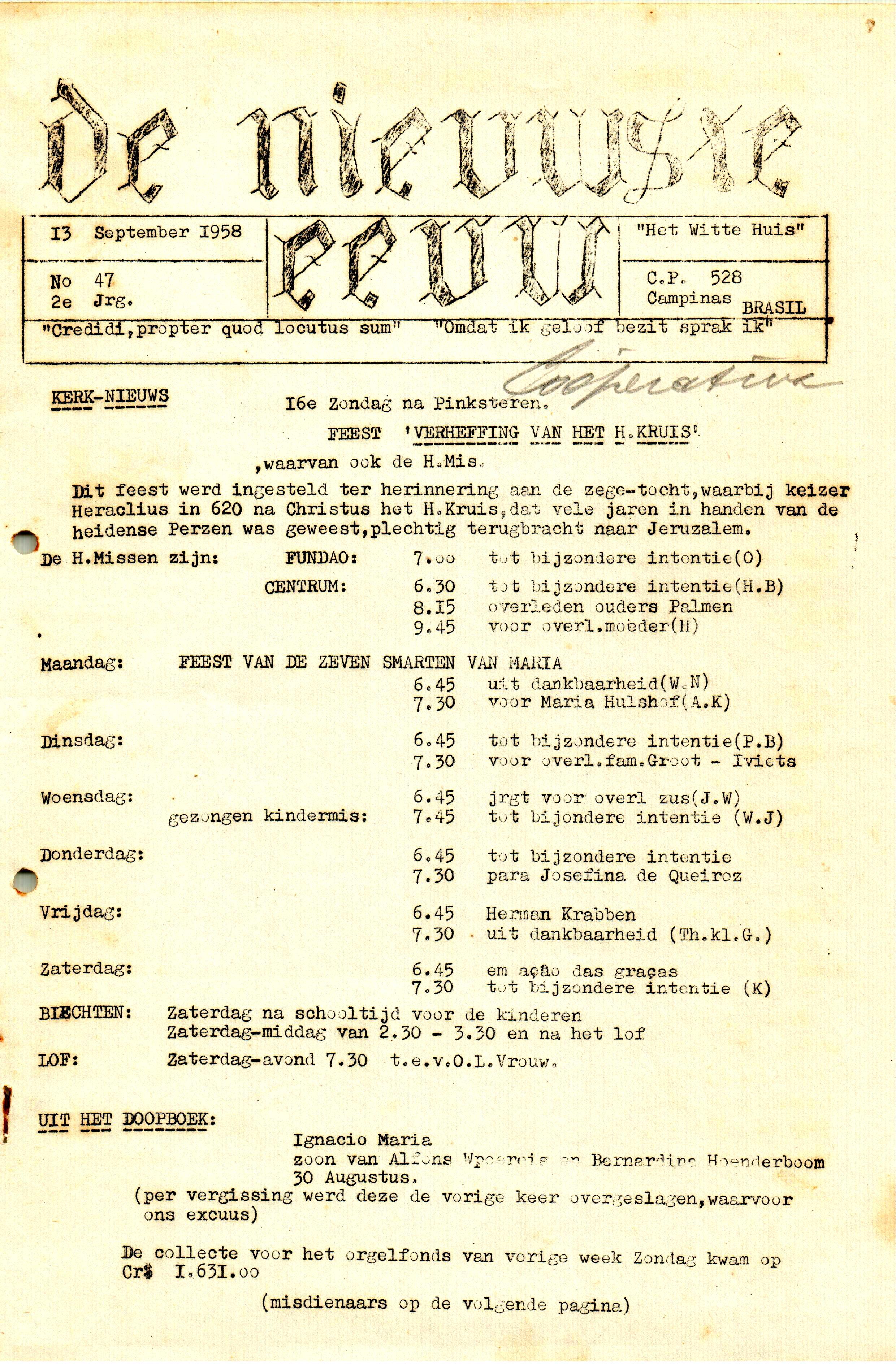 DE NIEUWSTE EEUW N° 47 - 2e JRG