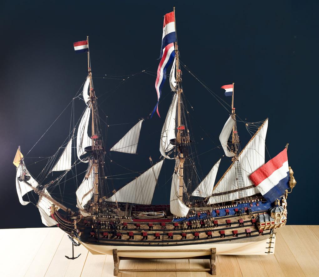 Volmodel van Admiraalsschip 'De Zeven Provinciën'.