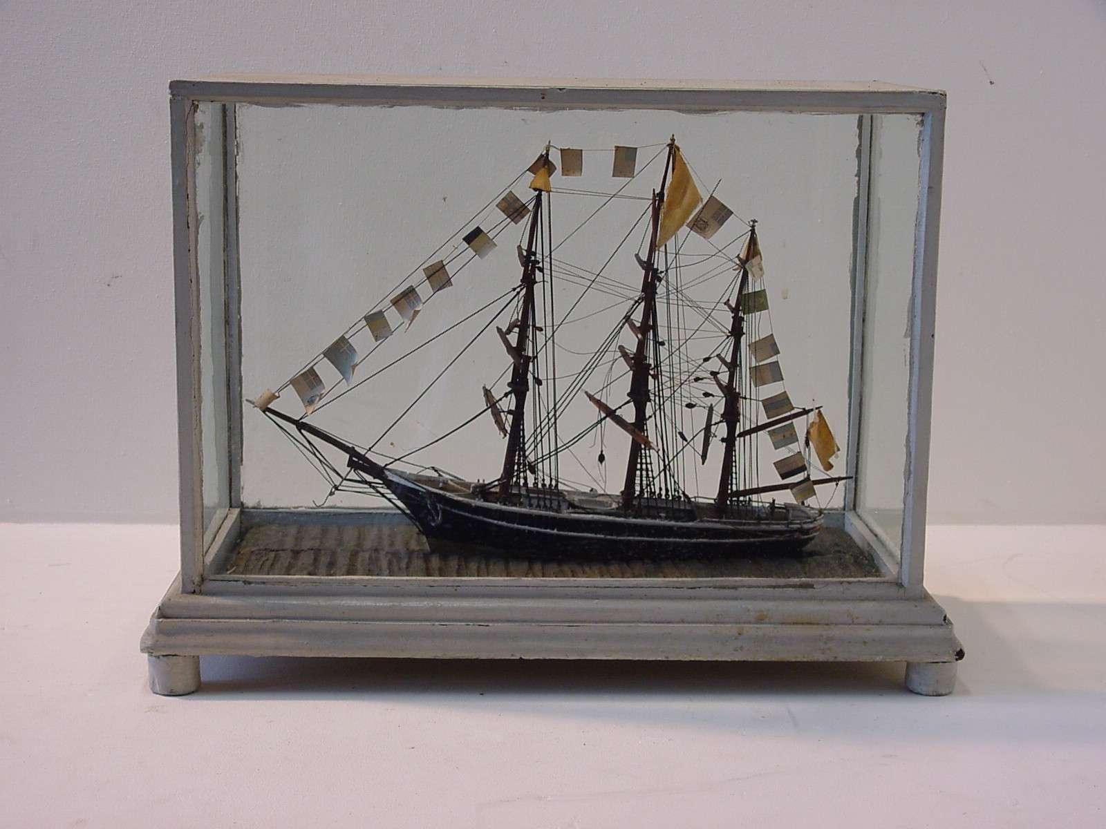 Model van een 3-mast schoener